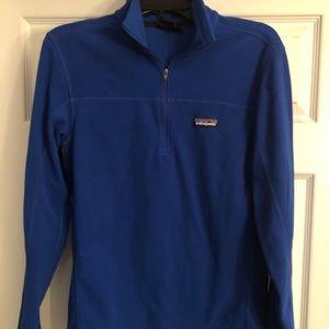 Patagonia Men's XS 1/4 zip Blue Fleece Pullover